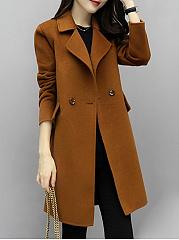 Lapel-Flap-Pocket-Plain-Woolen-Coat