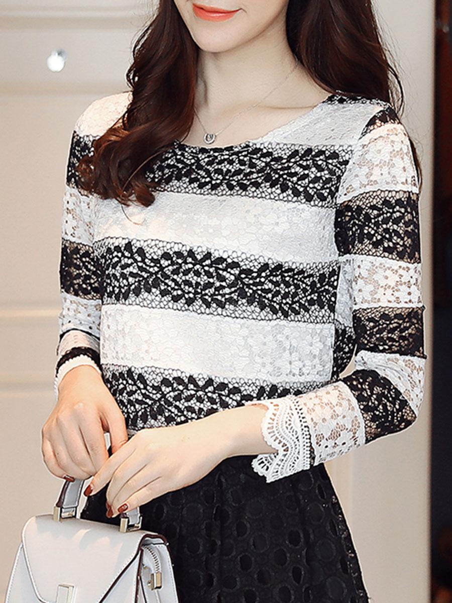 blouses Lace Long Sleeve Blouses