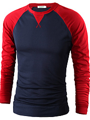 Color Block  Long Sleeve Long Sleeves T-Shirts