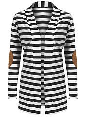 Striped-Longline-Decorative-Patch-Cardigan