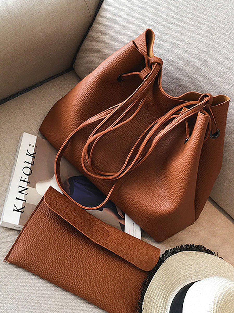 Two Pieces Simple Shoulder Bag