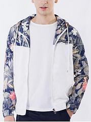 Hooded-Pocket-Floral-Printed-Men-Coat