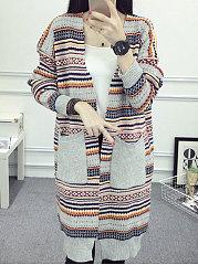 Patch-Pocket-Striped-Cardigans