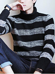 Mene28099S-Turtleneck-Striped-Rib-Knit-Sweater