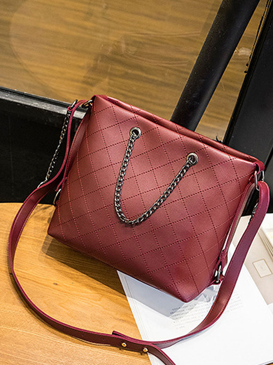 New Style Plain Chic Women Hand Bags