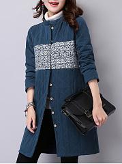Band-Collar-Pocket-Printed-Coat