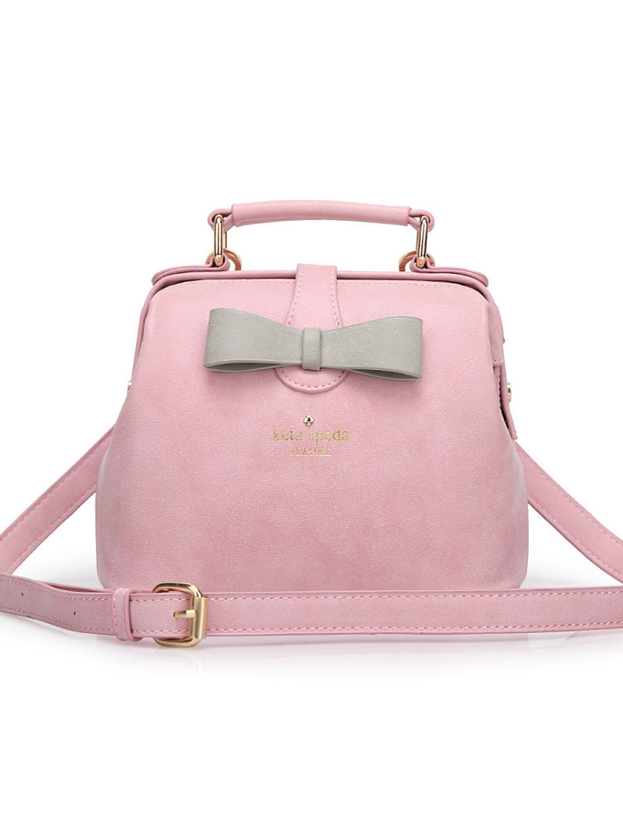 Candy Color Bowknot Crossbody Bag