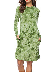 Hooded-TieDye-Polyester-Shift-Dress
