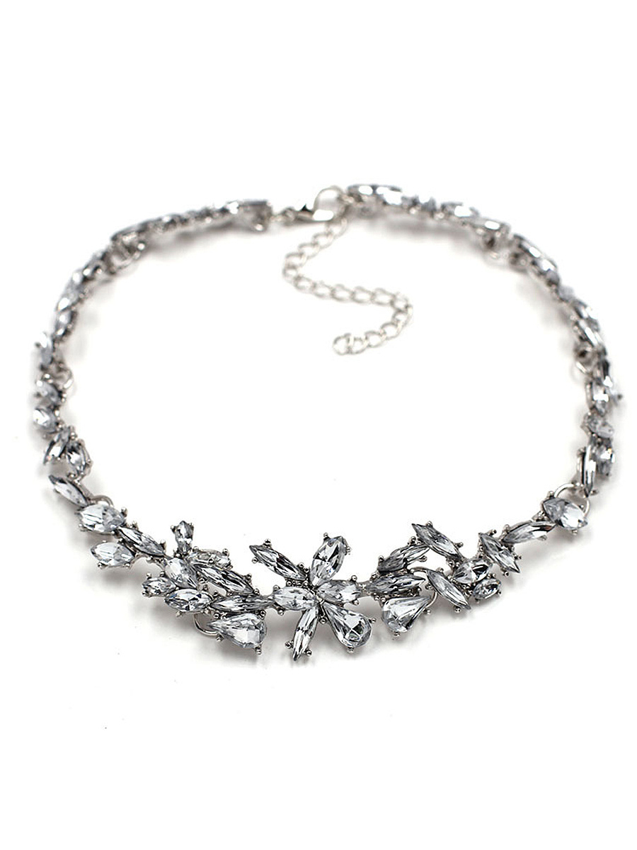Faux Crystal Choker Necklace