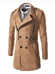 Men-Lapel-Double-Breasted-Zips-Plain-Pocket-Woolen-Coat