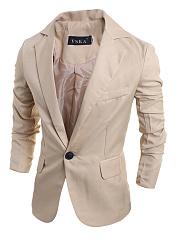 Plain-Men-Notch-Lapel-Single-Button-Blazer