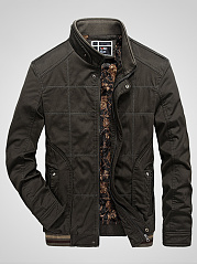 Band-Collar-Fleece-Lined-Zips-Pocket-Men-Jacket