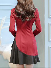Doll Collar  Plain  Blend Bodycon Dress