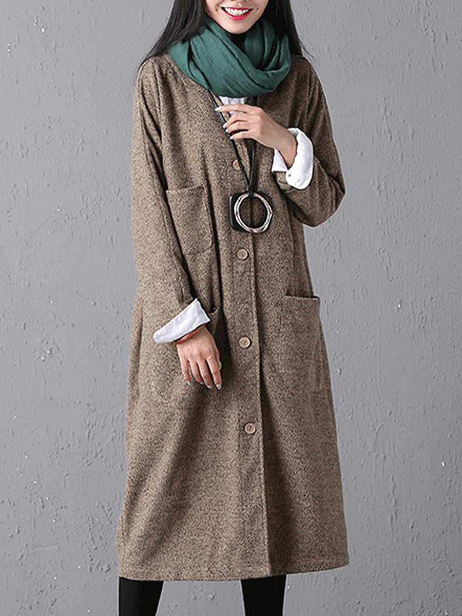 Art Fan Multi-Pocket Trench Coat
