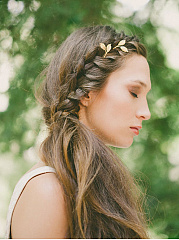 Gold Leaf Shape Hair Clip