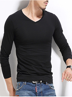 Plain  Long Sleeve Long Sleeves T-Shirts