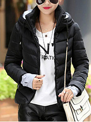 Hooded Pocket Quilted Coat