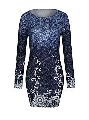 Glamorous-Printed-Round-Neck-Long-Sleeve-Bodycon-Dress