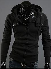 Hooded-Patch-Pocket-Plain-Men-Coat
