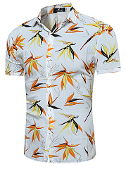 Men-Short-Sleeve-Tropical-Printed-Shirts