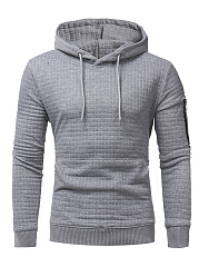 Kangaroo Pocket Zips Plaid Men Hoodie