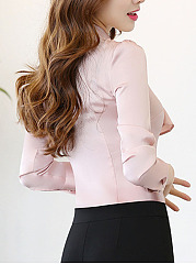 Single Breasted  Plain Blouses