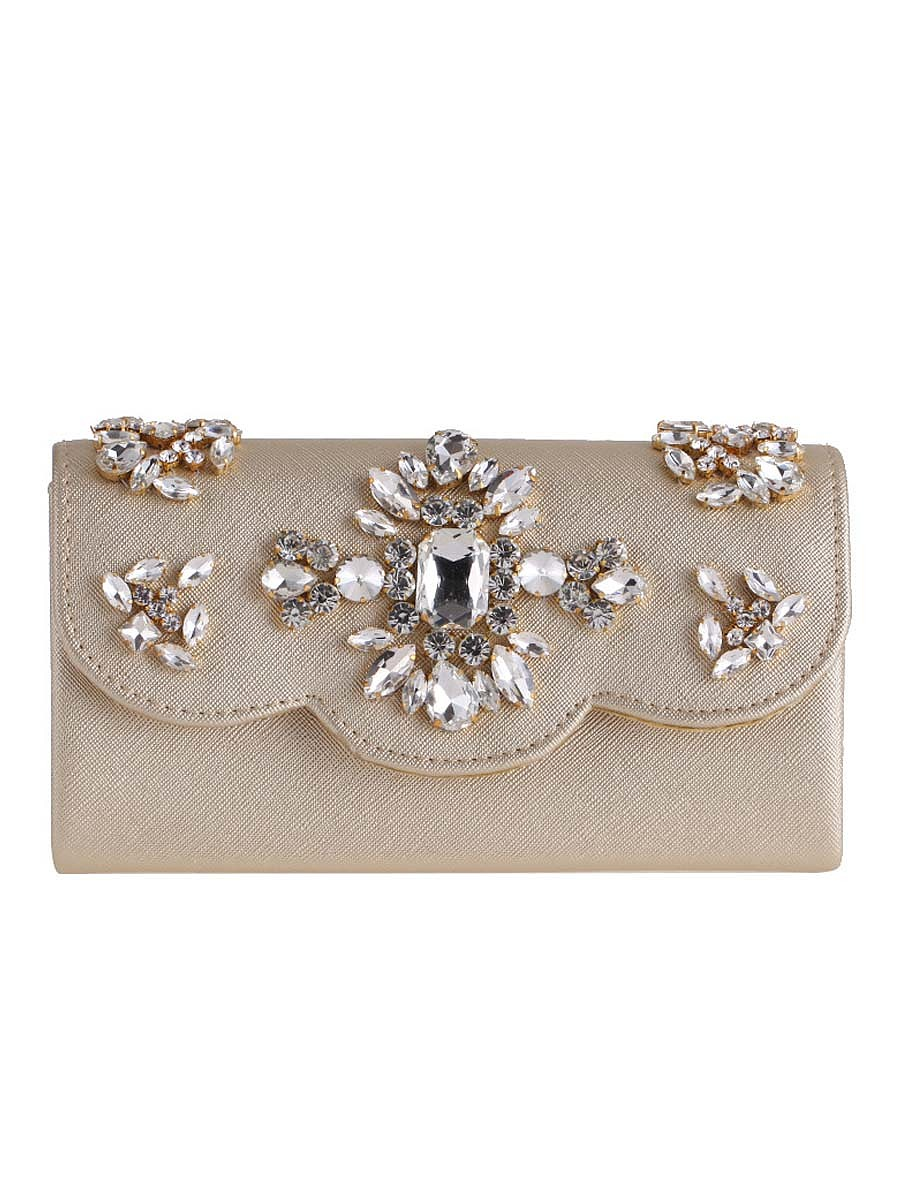 Diamante Luxurious Pu Clutch