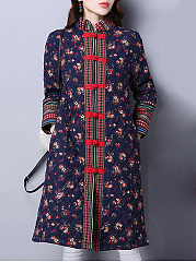 Band-Collar-Floral-Chinese-Plate-Buckle-Long-Sleeve-Coats