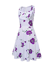 Sweet Heart  Floral Printed Lovely Plus Size Skater Dress