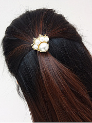 Pearl Paw Shape Hair Band