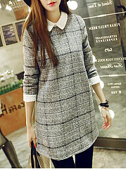 Doll Collar  Checkered Shift Dress