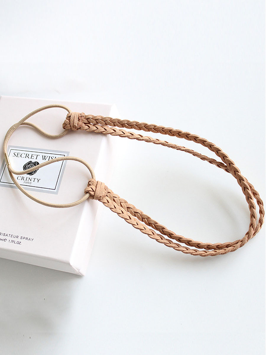 Boho Leather Weave Hair Band