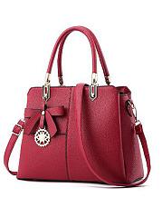 Korea-Stylish-Plain-All-Match-Patchwork-Hand-Bag