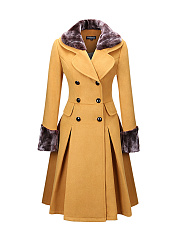 Classical-Double-Breasted-Faux-Fur-Collar-Swing-Woolen-Coat