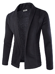 Shawl Collar Plain Men Cardigan
