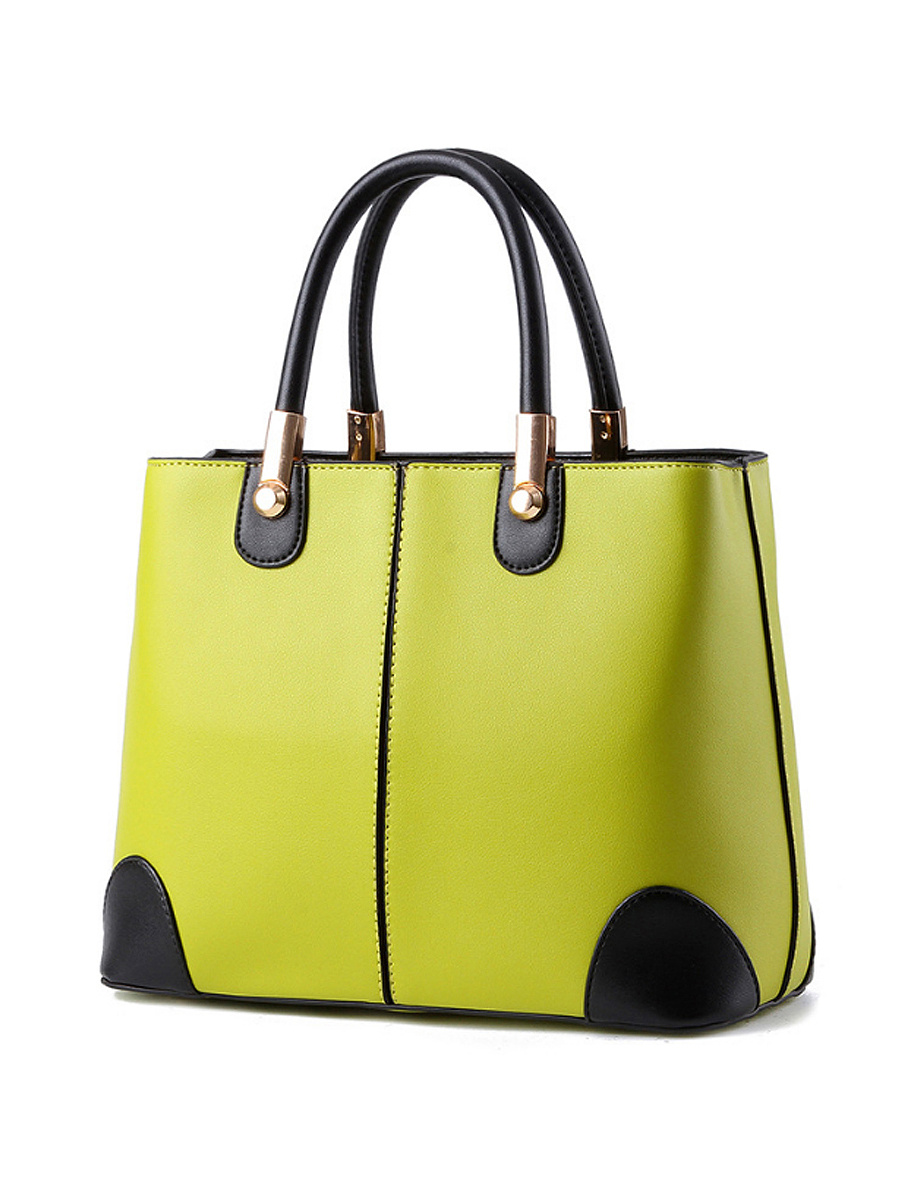 Candy Color Color Block Shoulder Bag