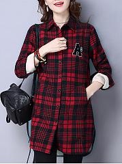 Plaid-Fleece-Lined-Pocket-Coat