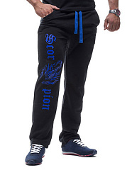 Contrast Printed Men's Casual Straight Pants