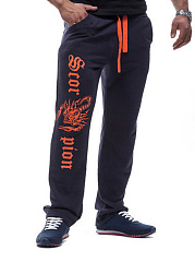 Contrast-Printed-Mens-Casual-Straight-Pants