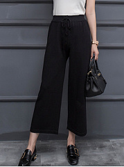 Plain-Wide-Leg-Casual-Pants-In-Black