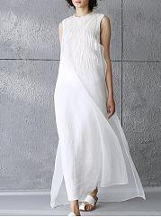 Crew-Neck-Embroidery-Sleeveless-Maxi-Dress