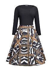 Glamorous-Round-Neck-Printed-Plus-Size-Flared-Dress