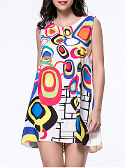 Multi-Color-Color-Block-Printed-Sleeveless-Shift-Dress