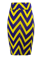 Zigzag-Striped-Pencil-Midi-Skirt