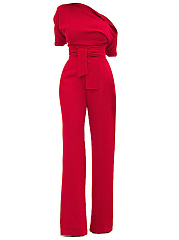 One-Shoulder-Plain-Wide-Leg-Jumpsuit