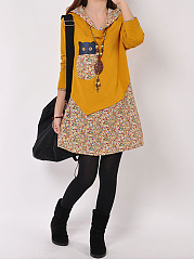 Cute-Printed-Hooded-Mini-Shift-Dress