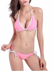 Sexy-Halter-Contrast-Trim-Triangle-Bikini