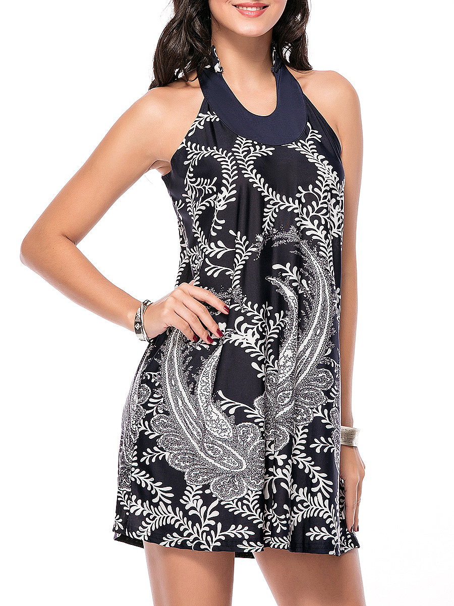 Loose Paisley Printed Shift Dress