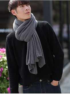 Winter Warmer  Plain Soft Knitted Scarves