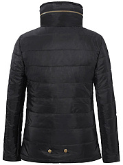 High Neck Zips Pocket Quilted Plain Padded Coat